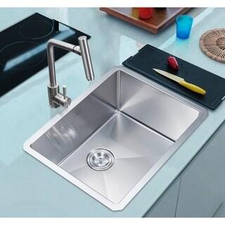 18 Gauge Stainless Steel 23 Inch Single Basin Undermount Kitchen Sink