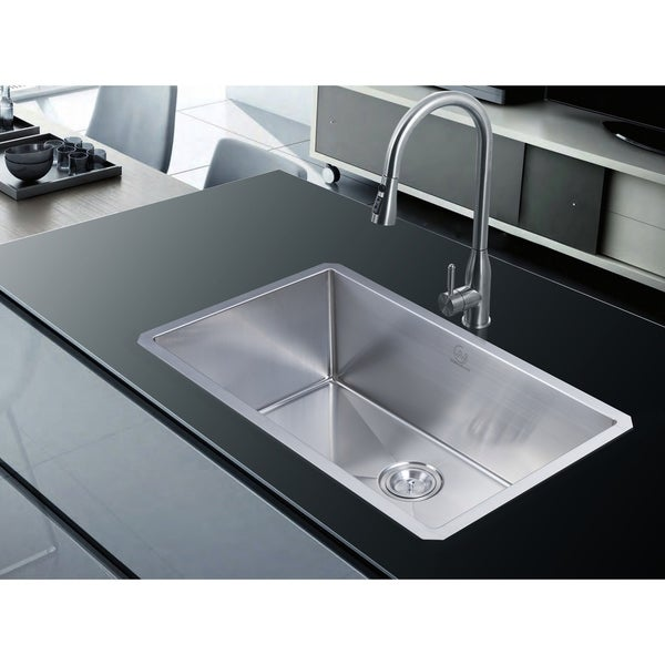 18 Gauge Stainless Steel 30 Inch Single Basin Undermount Kitchen ...