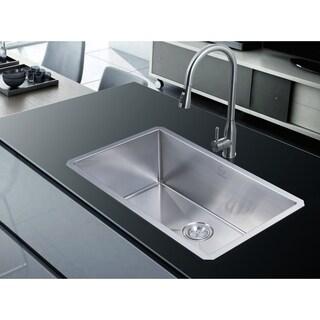 18 Gauge Stainless Steel 30 Inch Single Basin Undermount Kitchen Sink