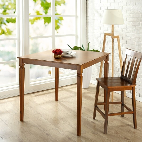 Shop Priage By Zinus Farmhouse Wood Dining Table: Shop Priage By Zinus Counter Height Square Wood Dining