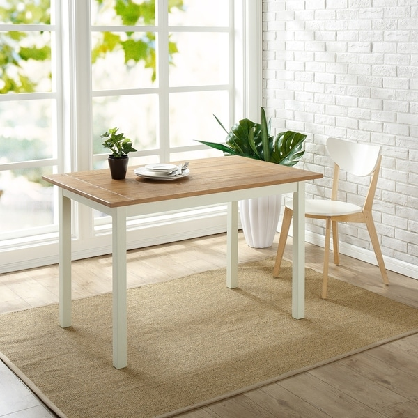 Shop Priage By Zinus Farmhouse Wood Dining Table Free