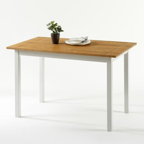 Priage by Zinus Farmhouse Wood Dining Table