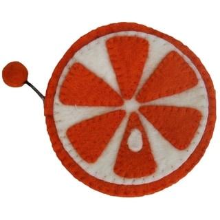 Link to Handmade Felt Fruit Coin Purse - Orange (Nepal) Similar Items in Wallets