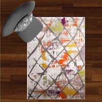 "Home Dynamix Tanja Collection Contemporary Multicolor Trellis Area Rug - 7'10"" x 10'2"""