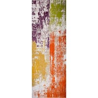 "Home Dynamix Tanja Collection Contemporary Brushstroke/Abstract Area Rug Runner (2'7"" x 6'6"")"