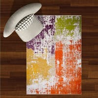 """Home Dynamix Tanja Collection Contemporary Brushstroke/Abstract Area Rug (5'2"""" x 7'2"""")"""