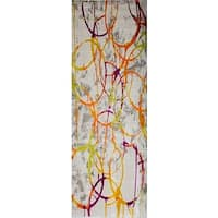 """Home Dynamix Tanja Collection Contemporary Multicolored with Circles Area Rug Runner (2'7"""" x 6'6"""")"""