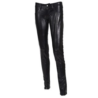 Therapy Vegan Leather Skinny 5 pocket Jean with Stud Pant Details