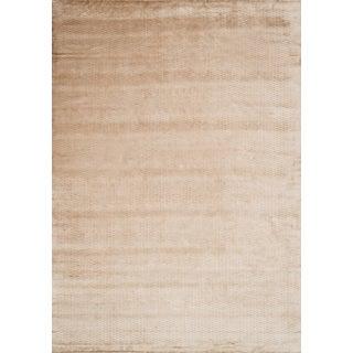 Hand-woven Grandeur Beige Viscose Rug (9'6 x 13'6)