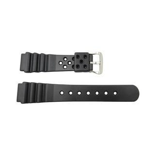 Don Taylor 20mm Black Rubber Replacement Watch Strap Durable PVC Material