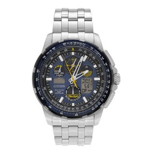 Citizen Men's JY8058-50L 'Blue Angels' Stainless Steel Analog Digital Chronograph Link Bracelet Watch