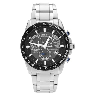 Citizen Men's AT4010-50E 'Perpetual' Stainless Steel Chronograph Dial Link Bracelet Watch