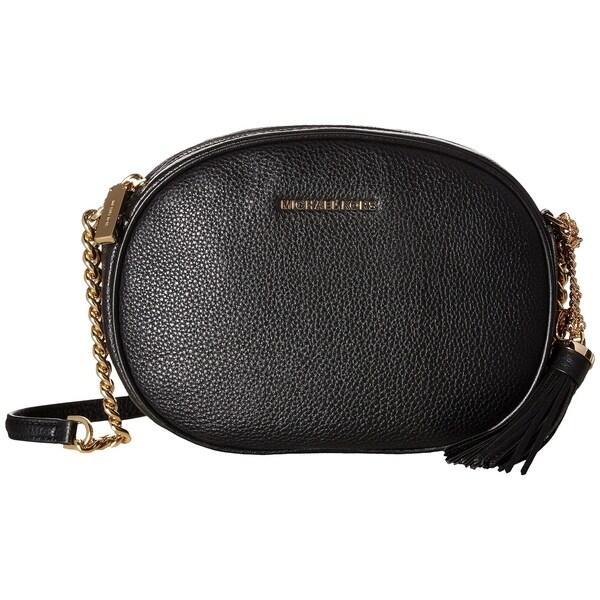 ff09731cc7f4 Shop MICHAEL Michael Kors Ginny Medium Leather Crossbody in Black ...