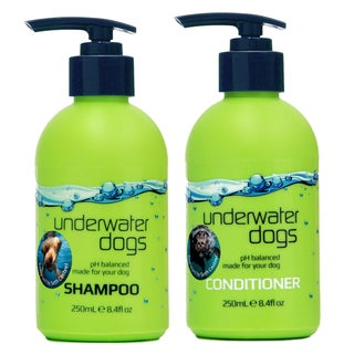 Underwater Dogs Shampoo & Conditioner - Soap-Free, pH Balanced Shampoo & Moisturizing Conditioner - Vanilla-Coconut