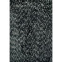 Luxury Shag Dark Gray Rug (5x8)