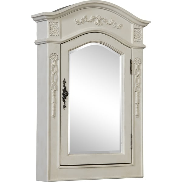 shop milan 22 antique white medicine cabinet antique white free rh overstock com  antique white medicine cabinet with mirror