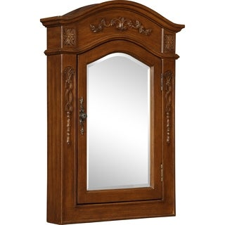 Heritage Milan Brown Wood 22-inch Mirrored Medicine Cabinet