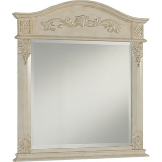 heritage chelsea antique white mirror
