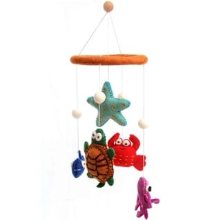 Handmade Felt Deep Sea Mobile (Nepal)