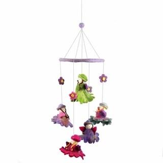 Handmade Felt Flower Fairy Mobile (Nepal)