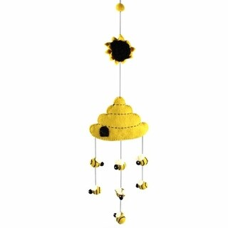 Link to Handmade Felt Beehive Mobile (Nepal) Similar Items in Mobiles