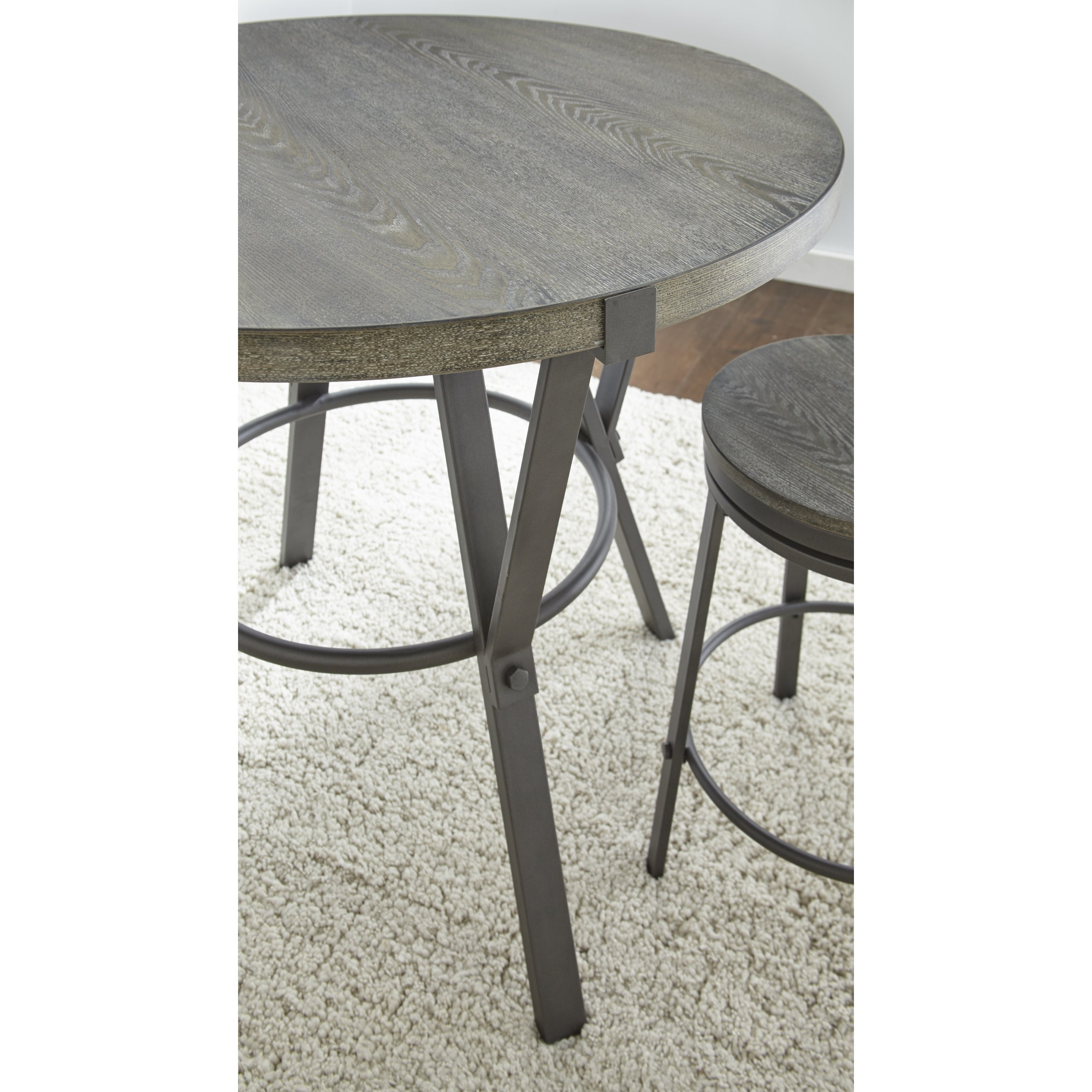 Perry Grey Round 42 Inch Counter Height Dining Table By Greyson Living Overstock 17076636