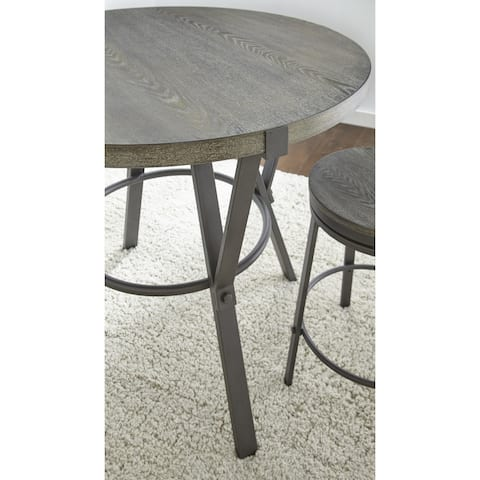 Perry Grey Round 42-inch Counter Dining Table by Greyson Living - Grey Brown
