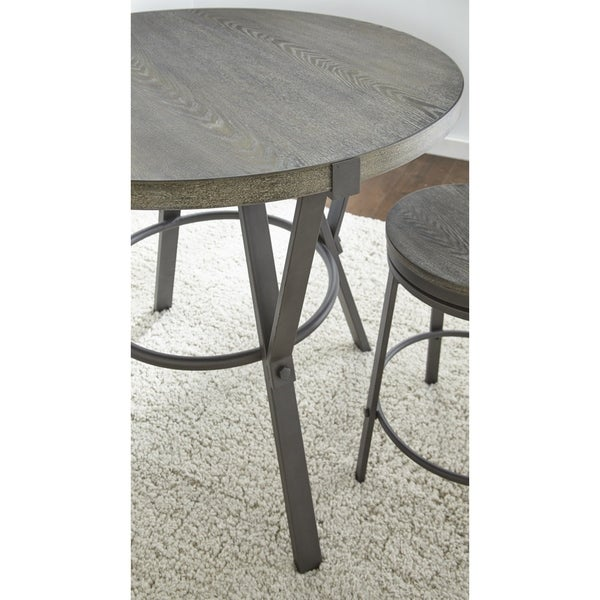 Perry Grey Round 42-inch Counter Dining Table by Greyson Living - Grey Brown. Opens flyout.