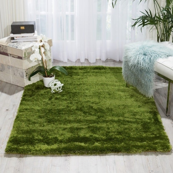 Nourison Lush Apple Green Shag Area Rug ...