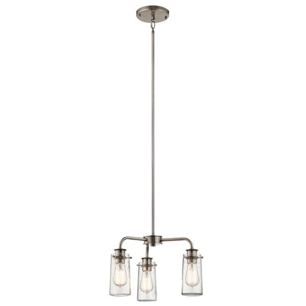 Kichler lighting braelyn 3 light pewter chandeliersemi flush free kichler lighting braelyn 3 light pewter chandeliersemi flush aloadofball Image collections