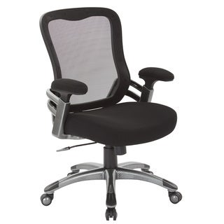 Black Mesh Back and Seat Managers Chair with Light Water Transfer Accent Base
