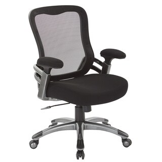 Black Mesh Back and Fabric Seat Managers Chair with Light Water Transfer Accent Base
