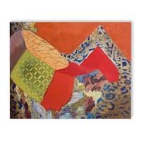 Kavka Designs Mountain Red/Orange/Green/Blue Canvas Art
