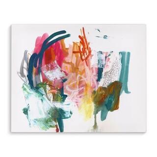 Kavka Designs Barbara Blue/Pink/Green/Orange;Yellow Canvas Art