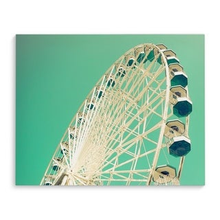 Kavka Designs Big Green Blue/White Canvas Art