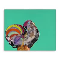 Kavka Designs BBQ Blue/Green/Yellow/Orange/Purple Canvas Art