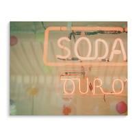 Kavka Designs Soda Pink/Green/Red Canvas Art