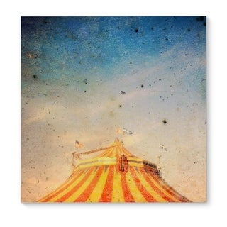 Kavka Designs The Big Top Orange/Yellow/Blue Canvas Art