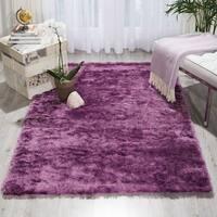 Nourison Lush Lavender Shag Area Rug - 4' x 6'
