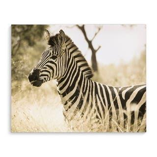 Kavka Designs Zebra Black/White/Tan Canvas Art