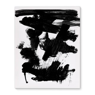 Kavka Designs Immensity Black/White Canvas Art