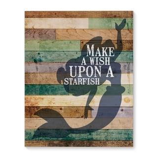 Kavka Designs Starfish Wish Blue/Green/Ivory/Brown Canvas Art