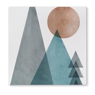 Kavka Designs Wild Grey/Blue/Orange Canvas Art