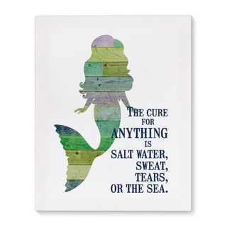 Kavka Designs The Cure Two Green/Blue/Purple Canvas Art