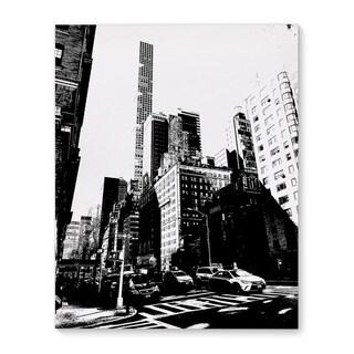 Kavka Designs NYC Upper East Side Black/White Canvas Art