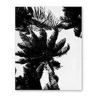 Kavka Designs Palm Trees Black/White Canvas Art