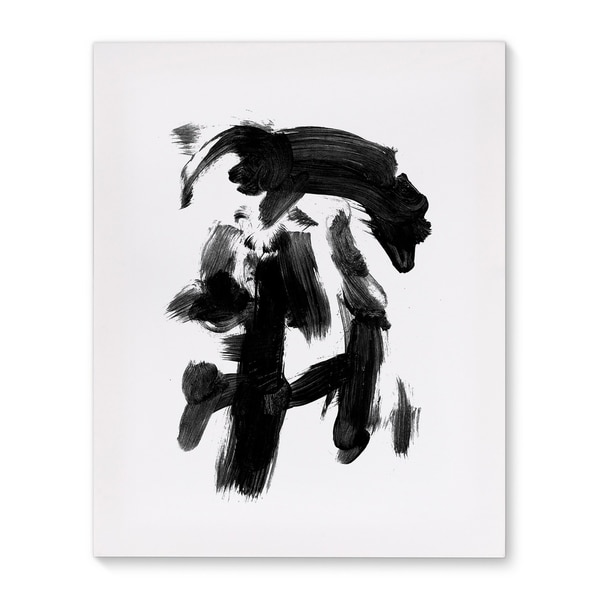 Kavka Designs Consciousness Black/White Canvas Art