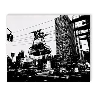 Kavka Designs Midtown NYC Black/White Canvas Art