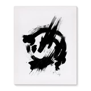 Kavka Designs Knowledge Black/White Canvas Art