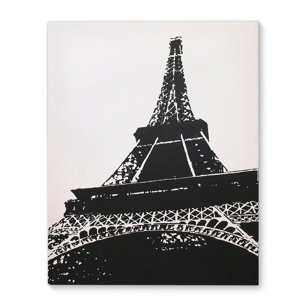 Kavka Designs Paris Black/White Canvas Art